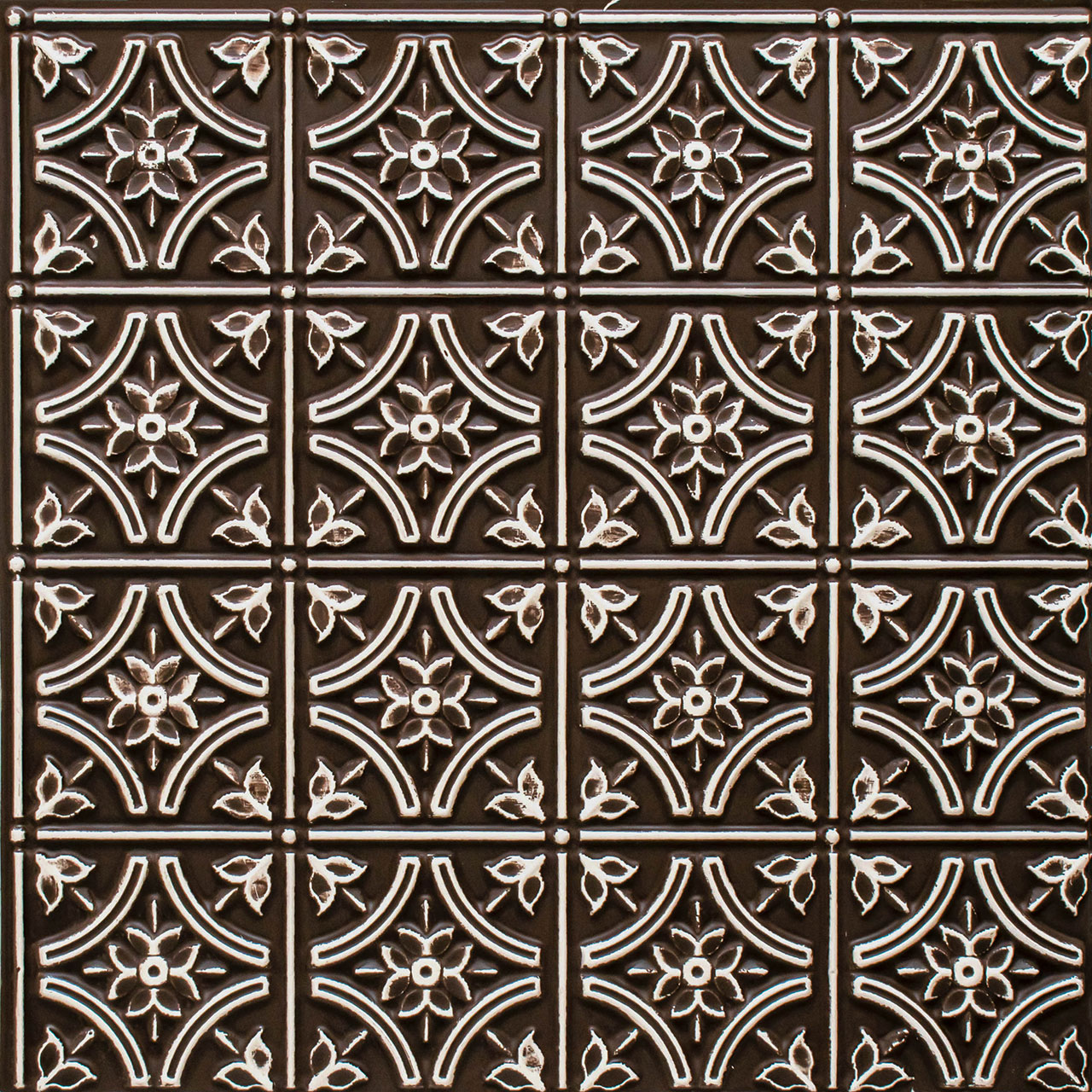 Gothic Reims - Faux Tin Ceiling Tile - 24 in x 24 in - #150
