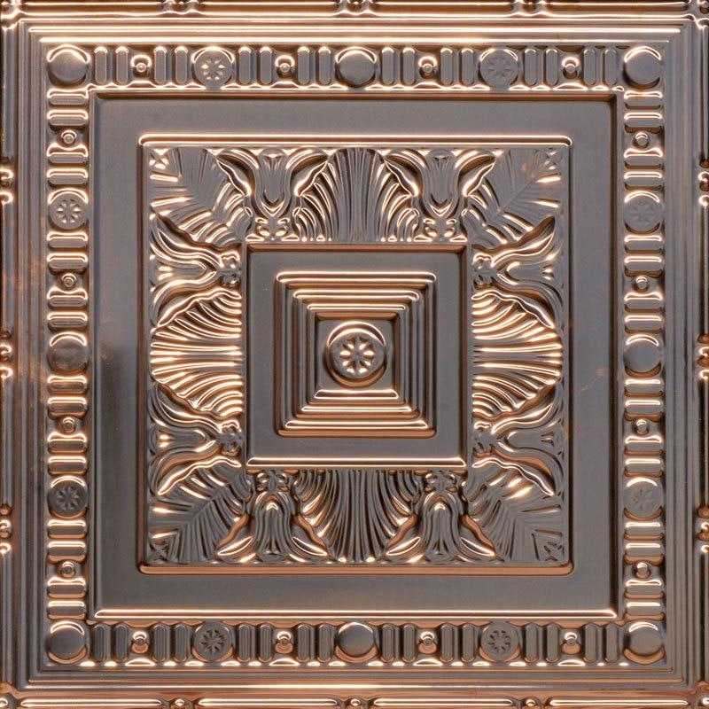 African Safari - Copper Ceiling Tile - 24 in x 24 in - #24004