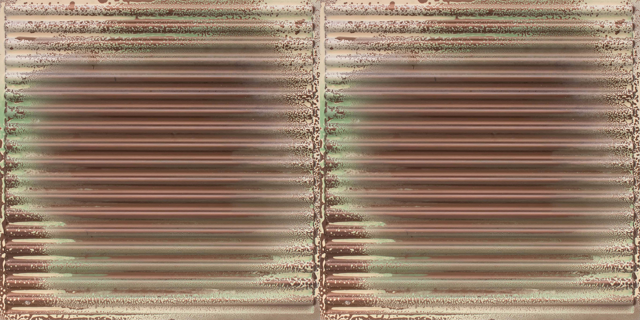Ridged Metal - Corrugated Faux Tin Ceiling Tile  #261