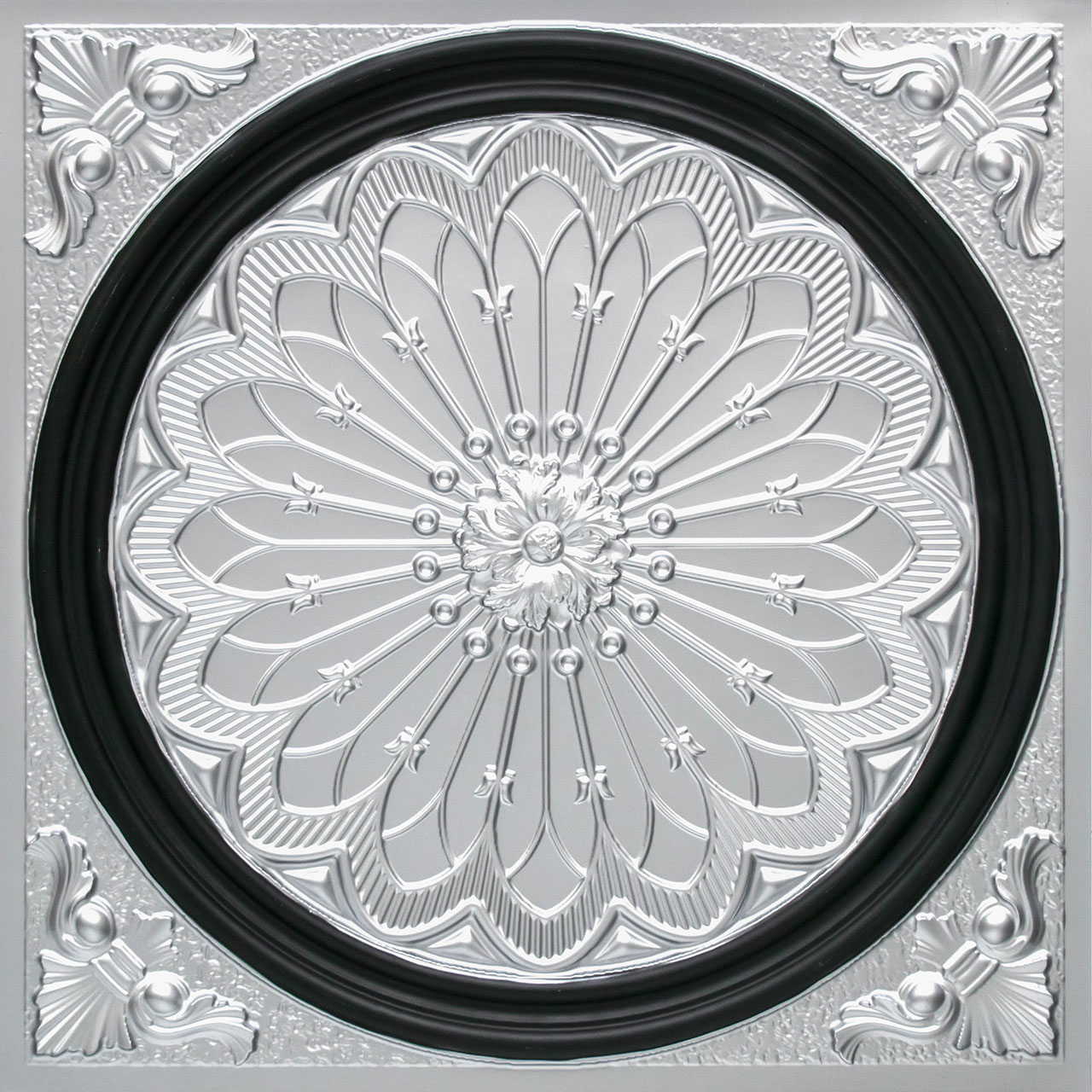 Rose Window - Faux Tin Ceiling Tile - 24 in x 24 in - #238