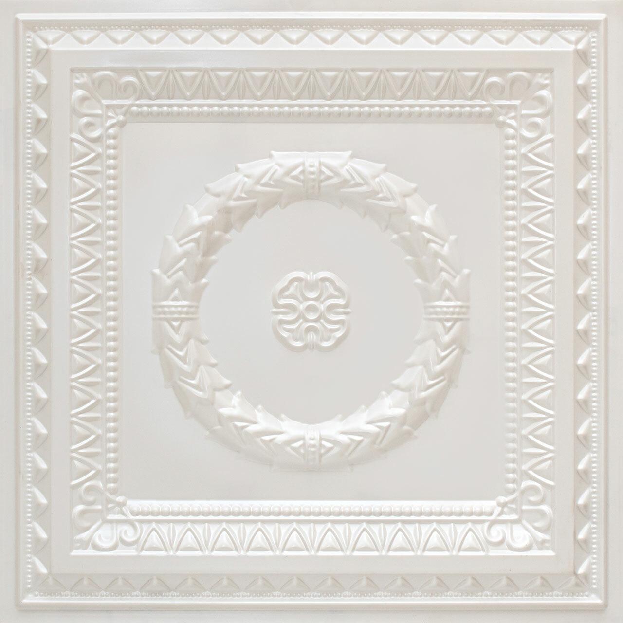 Laurel Wreath - Faux Tin Ceiling Tile - #210