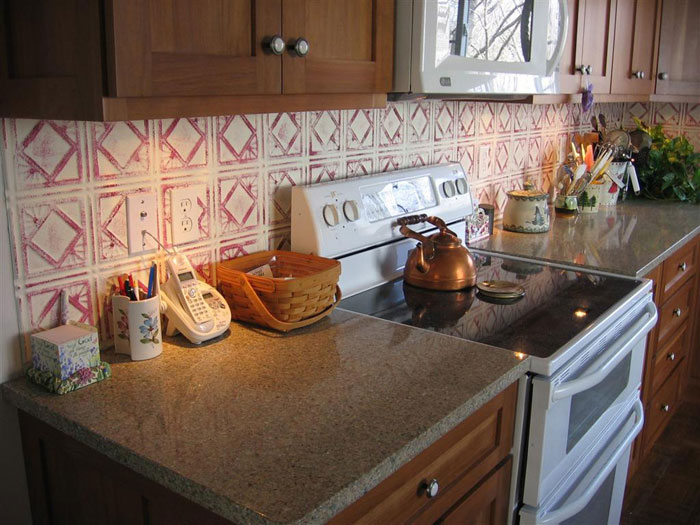 Diamondback Squares – Aluminum Backsplash Tile – #0603 - Mill Finish