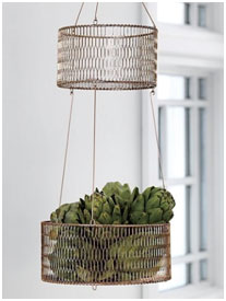 2-Tiered Hanging Baskets