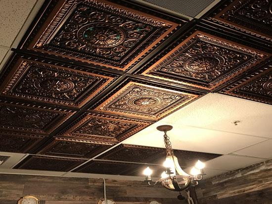 La Scala – Faux Tin Ceiling Tile – 24x24 – #223 - Antique Copper
