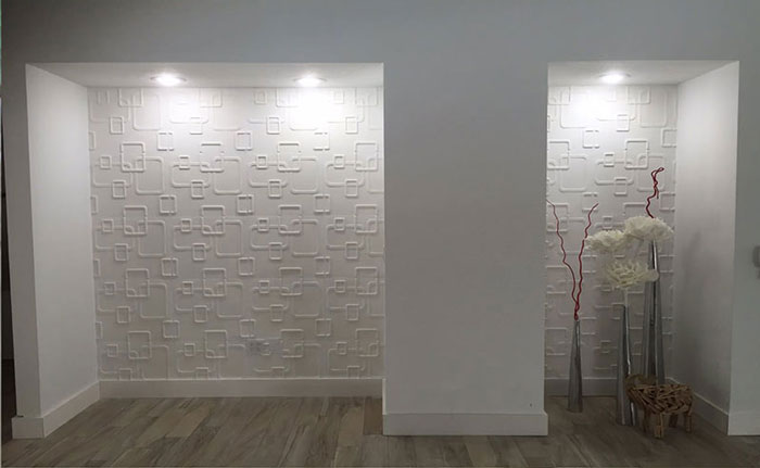 33D Wall Panels – Bamboo Pulp – #58 - Plain White