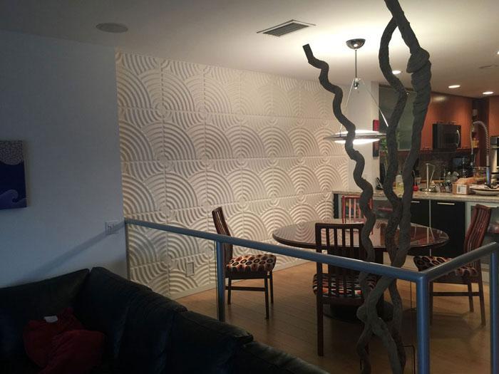 3D Wall Panels – Bamboo Pulp – #51 - Plain White