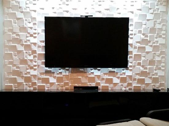 3D Wall Panels – Bamboo Pulp – #52 - Plain White