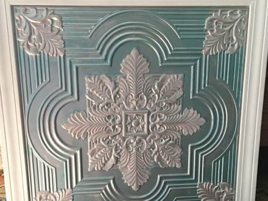 Large Snowflake – Faux Tin Ceiling Tile – 24″x24