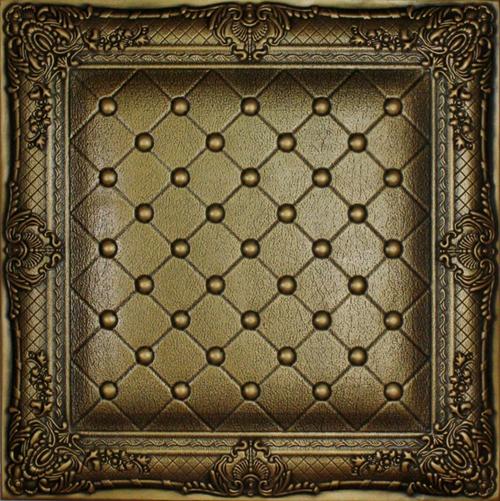 Juliet - Faux Leather Tile - #DCT LRT03 - Vintage Gold