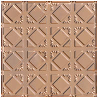 Abstract Diamondback – Copper Ceiling Tile – #0675