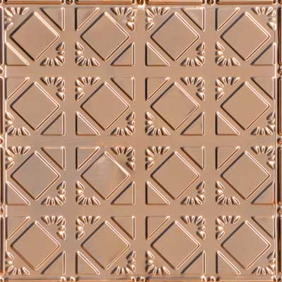 Abstract Diamondback – Copper Ceiling Tile - #0675 - Solid Copper