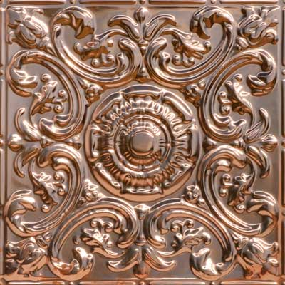 Al Fresco – Copper Ceiling Tile - #2414 - Solid Copper