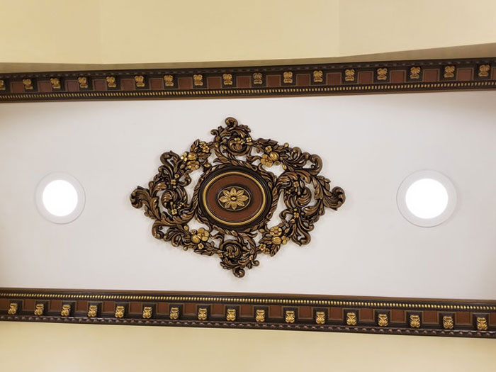 Vines Garden - FAD Hand Painted Ceiling Medallion - #CCMF-123 - Antique Bronze