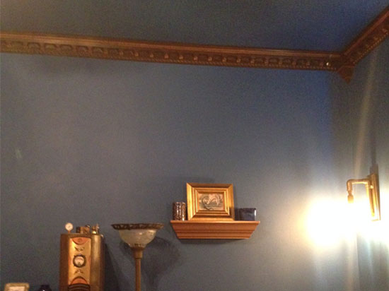 Crown Molding Brown with Bronze Accents