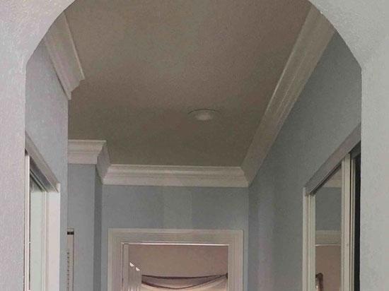 DIY Foam Crown Molding – 5.5″ Wide 95.5″ Long – #CC 551 - Plain White