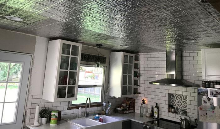 Autumn Leaves – Aluminum Backsplash Tile – #0608 - Mill Finish