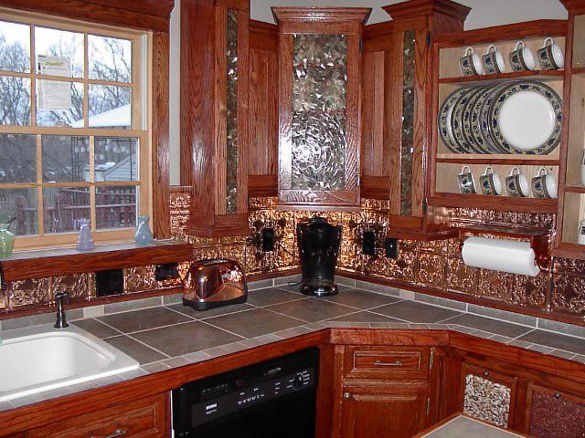 Autumn Leaves – Copper Backsplash Tile – #0608 - Solid Copper