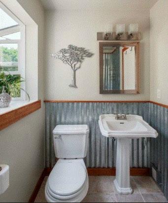 Metal Backsplash Ideas to the Bathroom