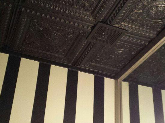 La Scala Faux Tin Ceiling Tile - Black