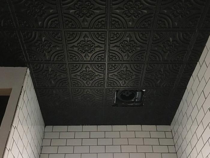 Wrought Iron Faux Tin Ceiling Tile - Black