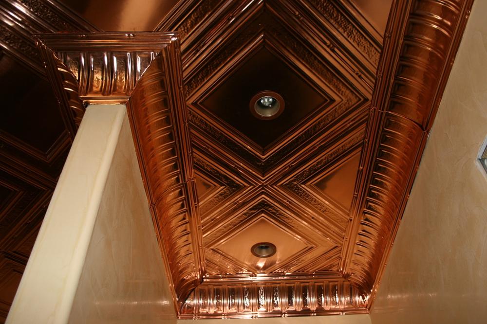 Savannah Square – Copper Ceiling Tile – #2402 - Solid Copper