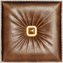 Buckle Up - Faux Leather tile - #DCT LRT02 - Caramel
