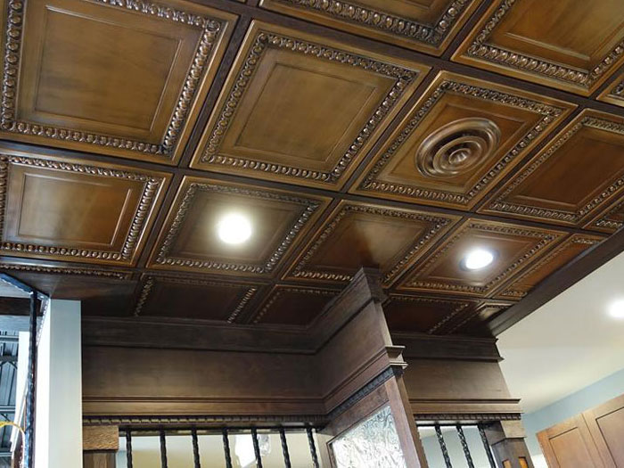 Cambridge – Faux Tin Ceiling Tile – 24 in x 24 in – #DCT 06 - Aged Copper
