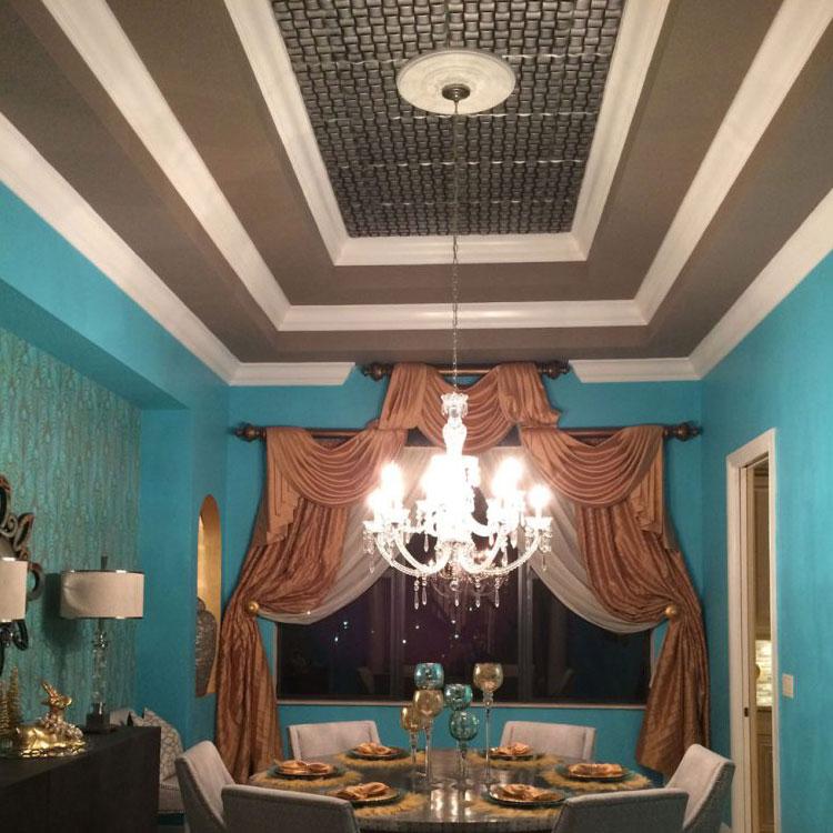 Cobblestone Styrofoam Ceiling Tile 20 in x 20 in – #R25 - Antique Silver