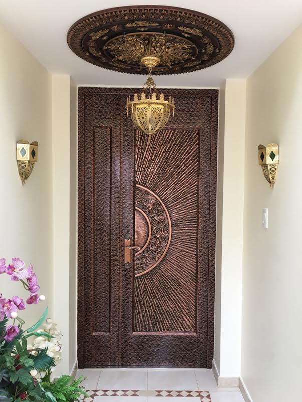 Arabic Caprice II - FAD Hand Painted Ceiling Medallion - #CCMF-116-2 - Bronze   Copper   Gold