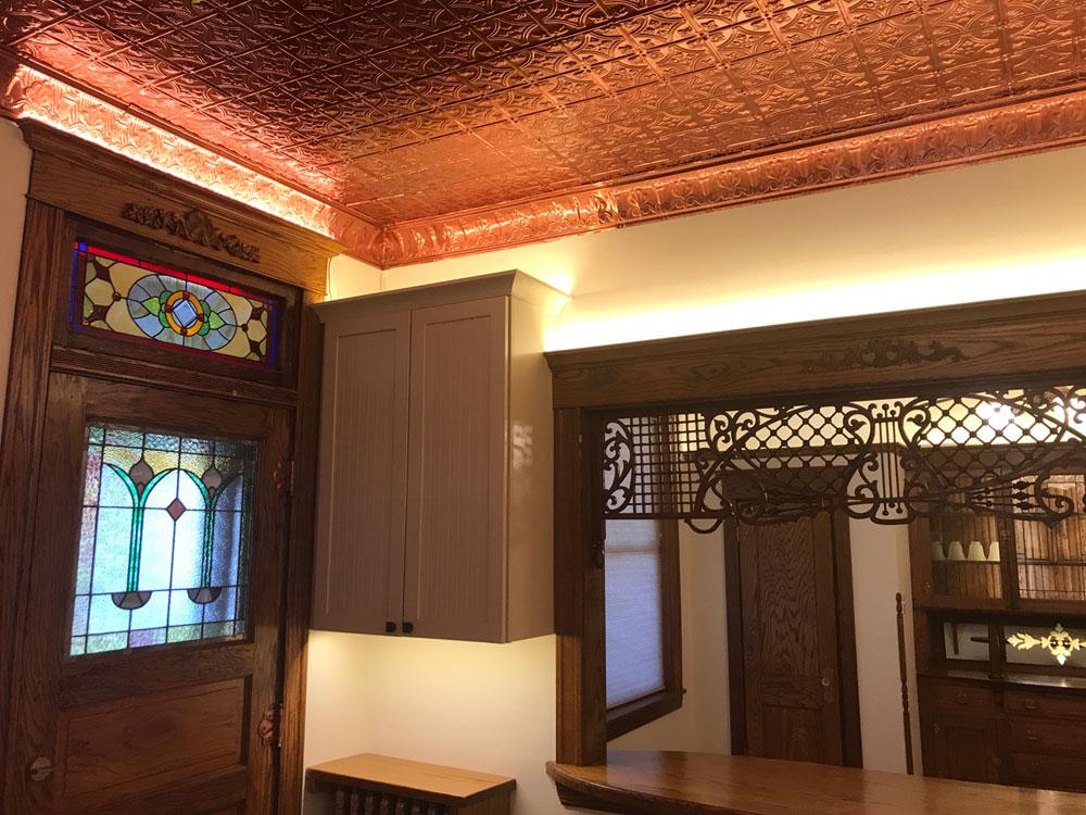 Princess Victoria – Aluminum Ceiling Tile – #0604 - Polished Copper