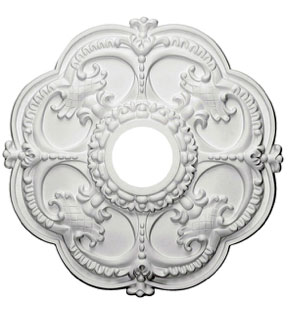Ceiling Medallion Scalloped Edges