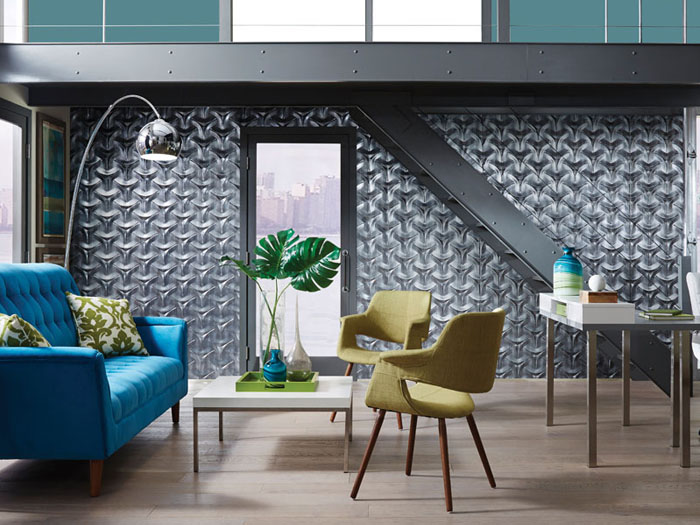 Japanese – MirroFlex – Wall Panels Pack - Crosshatch Silver