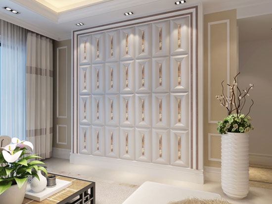 Faux Leather Wall Panels - DCT LRT326 Cream