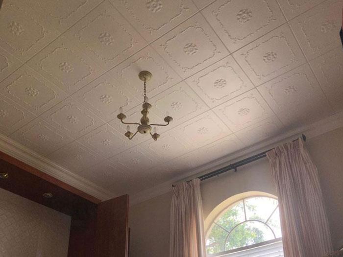 Bourbon Street – Styrofoam Ceiling Tile – 20x20 – #R43 - Plain White