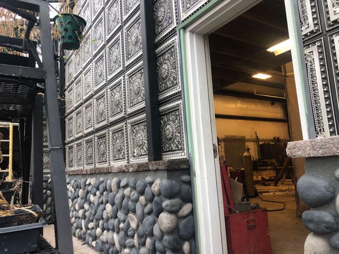 La Scala – Faux Tin Ceiling Tile – 24″x24″ – #223 - Antique Silver