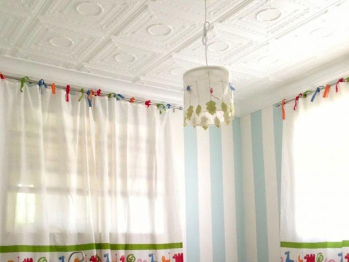 Romanesque Wreath – Styrofoam Ceiling Tile – 20″ x 20″ – #R 47 - Plain White