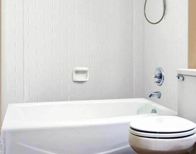 Subway Tile – MirroFlex – Tub and Shower Walls - White