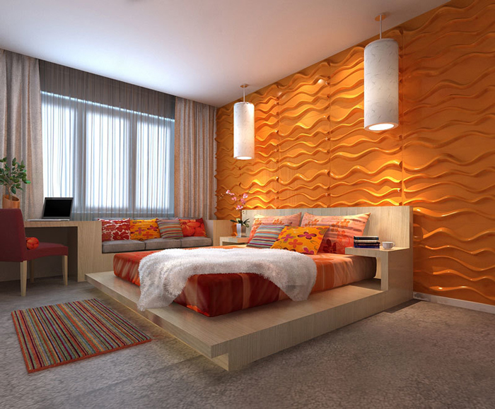 Wall Tiles 3D Bamboo Pulp 79