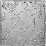 Delightful Dolphins – Tin Ceiling Tile – #2486