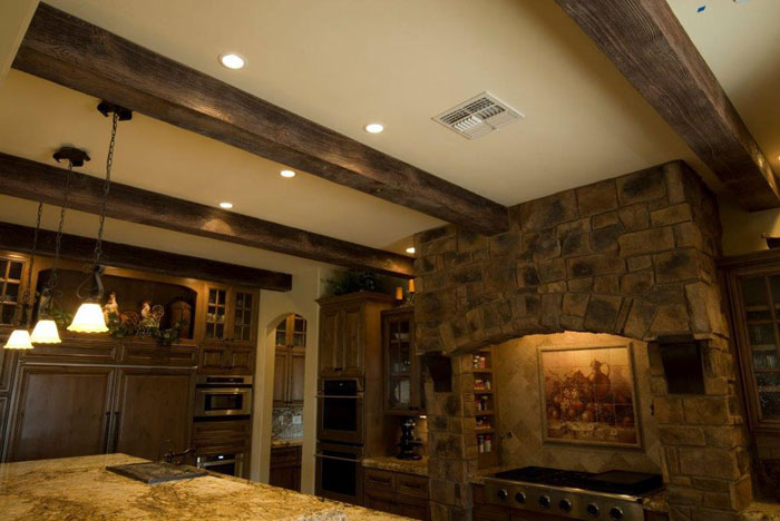 Faux Wood Beams - Light Walnut+Sand Blast