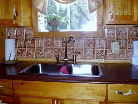 Gwen's Cabin – Aluminum Backsplash Tile – #0512 - Palomino