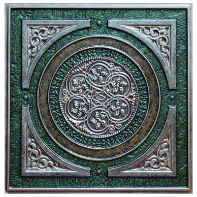 Steampunk VI - FAD Hand Painted Ceiling Tile - #CTF-006-6
