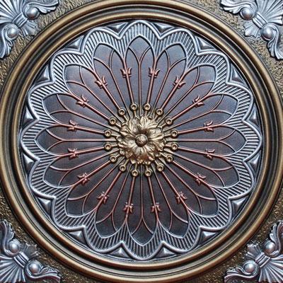 Rose Window II - FAD Hand Painted Ceiling Tile - #CTF-007-2