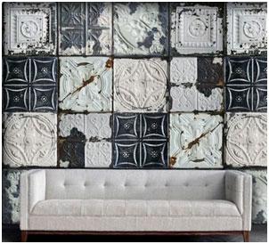 Wallpaper Faux Tin Ceiling Tiles