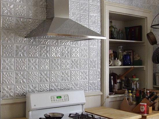 Flower Power – Aluminum Backsplash Tile – #0612 - White