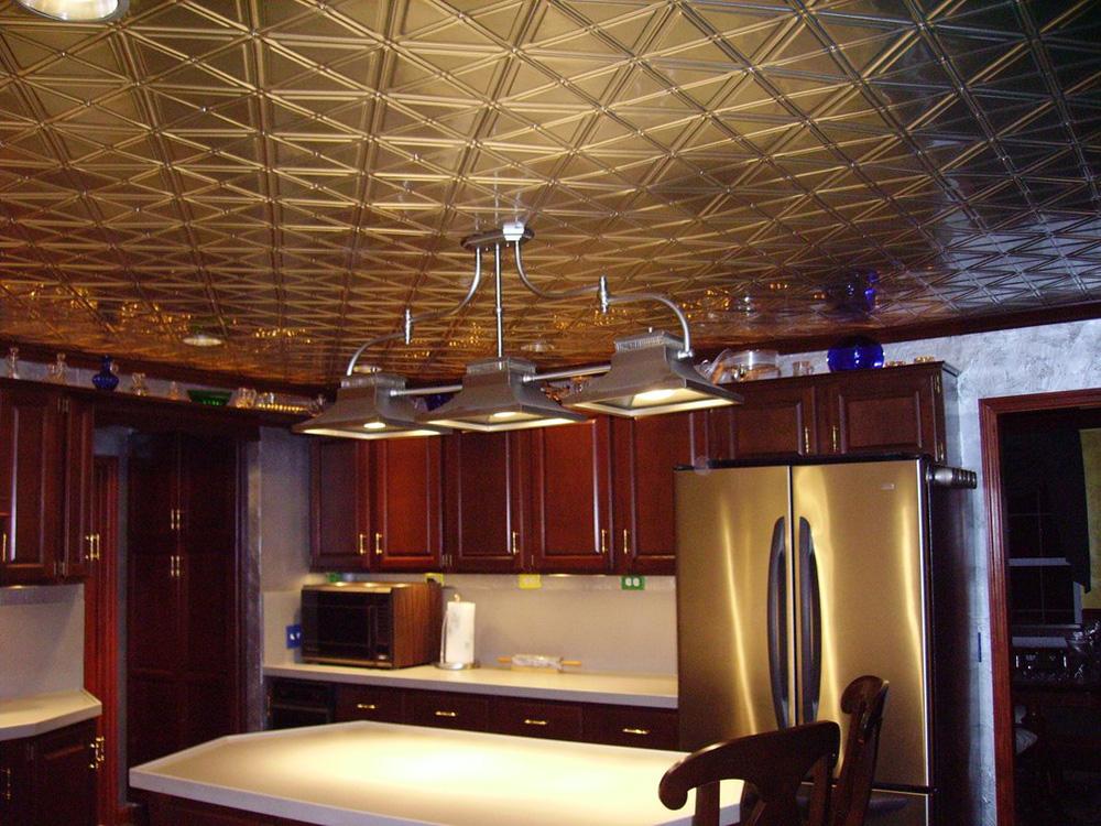 Jazz Age – Aluminum Ceiling Tile – #0606 - Polished Brass