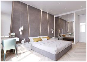 Decorative Wall Panels at Bedroom