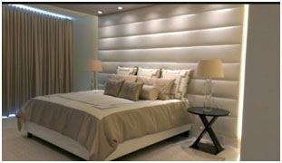 Decorative Wall Panels at Bedroom