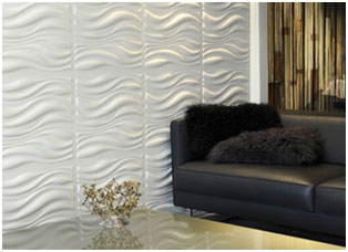 Decorative Wall Panels at Family Room
