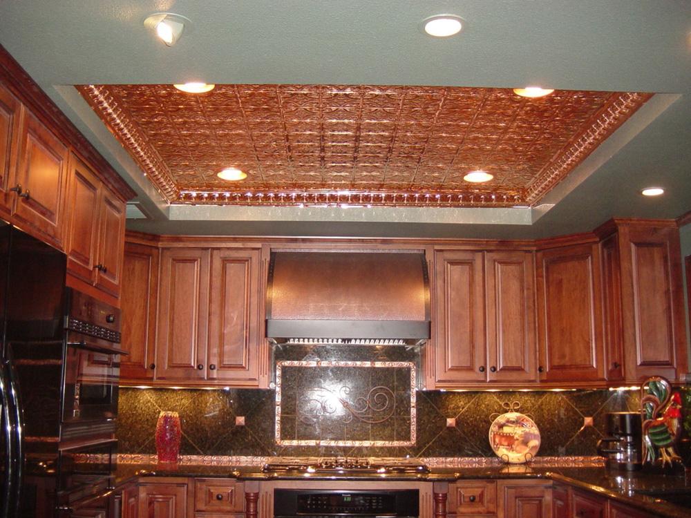 Mini Fluer de Lis – Copper Ceiling Tile – #0605 - Aged Solid Copper